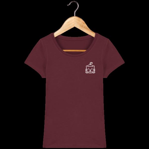 t-shirt-chat-femme_burgundy_face