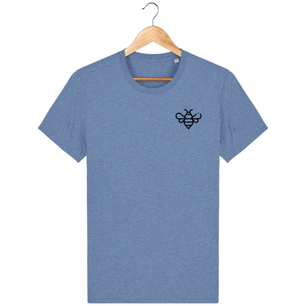 t-shirt-bee_mid-heather-blue_face