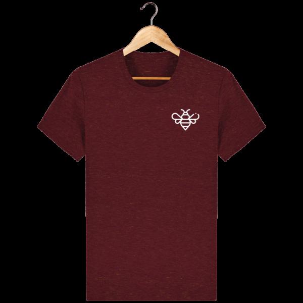 t-shirt-bee_heather-neppy-burgundy_face