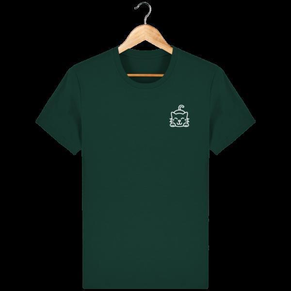 t-shirt-cat_glazed-green_face