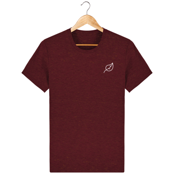 t-shirt-feuille-homme_heather-neppy-burgundy_face