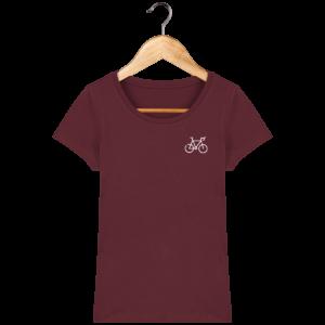T-shirt bio femme vélo