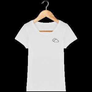 T-shirt bio femme nuages
