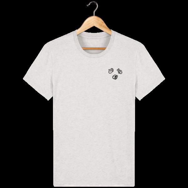 t-shirt-shifumi-homme_cream-heather-grey_face