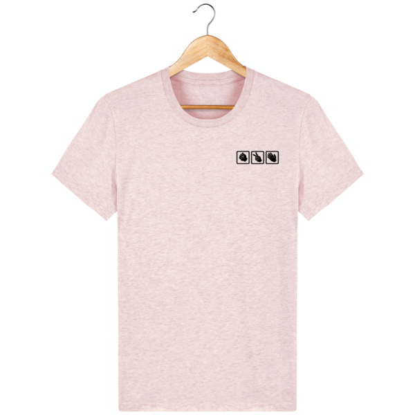 t-shirt-shifumi-homme_cream-heather-pink_face